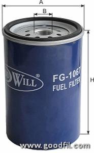 Топливный фильтр Goodwill FG1067FG1067Фильтр топл. 1067 FG GW HYUNDAY County. HD 65/78 Goodwill. FG1067