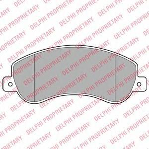 Тормозные колодки дисковыеDELPHI LP1954LP1954Колодки тормозные дисковые DELPHI. LP1954