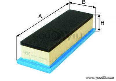 Воздушный фильтр Goodwill AG801AG801Фильтр возд. 801 AG GW FIAT Punto/Grande Goodwill. AG801