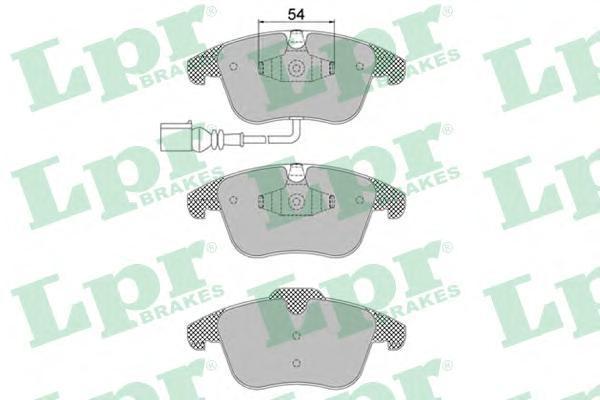 Колодки тормозные передние LPR / AP 05P139205P1392