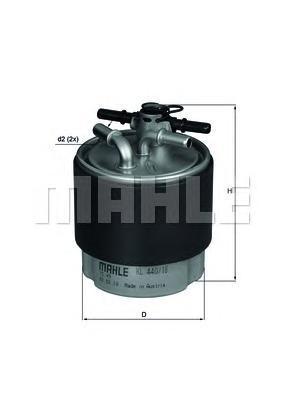 Фильтр топливный NISSAN: QASHQAI 07-, X-TRAIL 07-KL44018