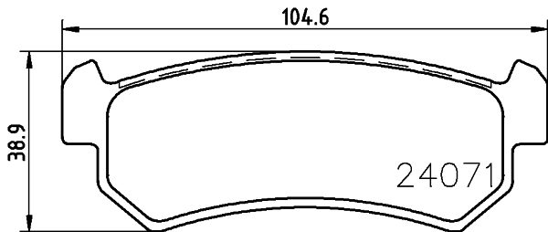 Тормозные колодки дисковые HELLA 8DB3550114518DB355011451колодки тормозные дисковые HELLA авто. 8DB355011451