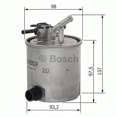 Прямоточный фильтр топливный Bosch F026402059F026402059