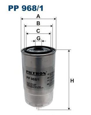 Фильтр топливный Filtron PP968/1PP968/1