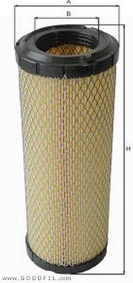 Воздушный фильтр Goodwill AG1022AG1022Фильтр возд. 1022 AG GW KOMATSU, HITACHI, ISUZU, BOBCAT Goodwill. AG1022