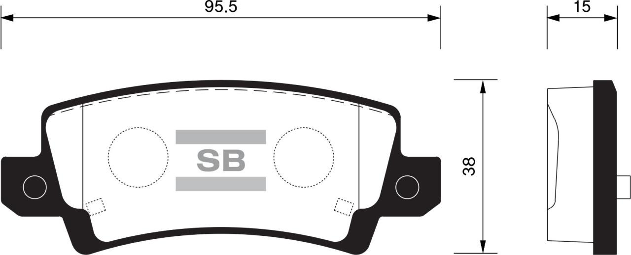 Колодки тормозные дисковые Sangsin, задние. SP1503SP1503