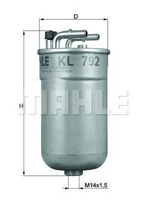 Топливный фильтр Mahle/Knecht KL792KL792Фильтр топливный OPEL CORSA/COMBO 1.3D/1.7D 06- Mahle/Knecht. KL792