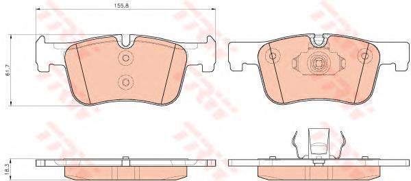Колодки дисковые передние TRW/Lucas GDB1934GDB1934