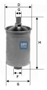 Фильтр топливный бензин UFI 31.503.0031.503.00