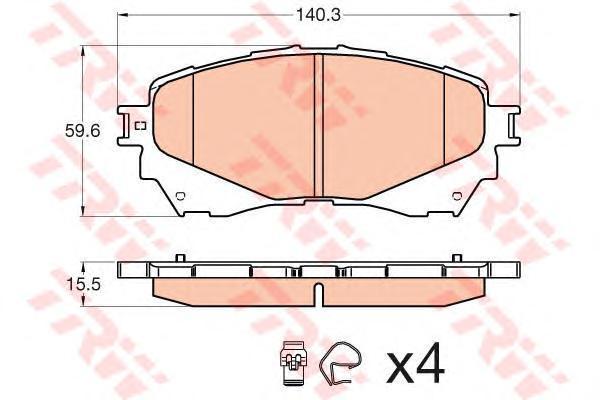 Колодки передние TRW/Lucas GDB3580GDB3580