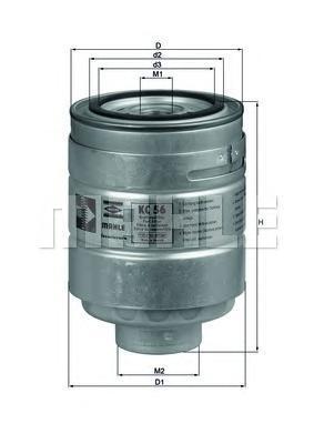 Топливный фильтр Mahle/Knecht KC56KC56Фильтр топливный Mazda 1,7-2,0D Mahle/Knecht. KC56