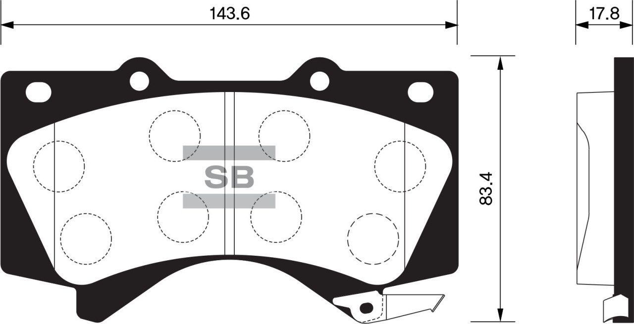 Тормозные колодки дисковые Sangsin SP1381SP1381Колодки тормозные передние Sangsin. SP1381
