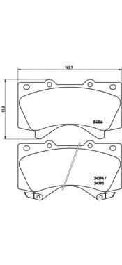 Тормозные колодки дисковые Brembo P83107P83107Колодки тормозные дисковые передние Brembo Toyota LC200. P83107