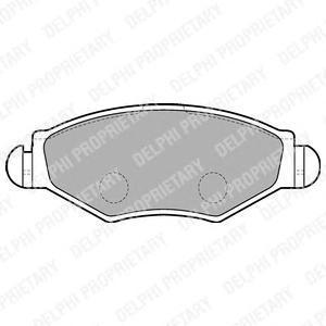 Тормозные колодки дисковыеDELPHI LP1699LP1699Колодки тормозные дисковые DELPHI. LP1699