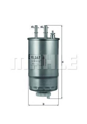 Топливный фильтр Mahle/Knecht KL567KL567Фильтр топливный FI, OP, PSA 1.3-2.0 DSL 05- Mahle/Knecht. KL567