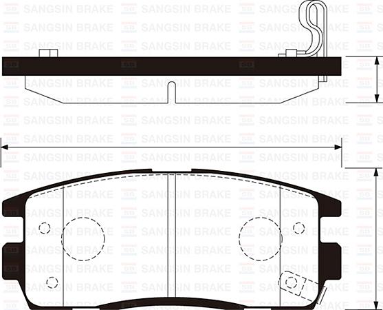 Колодки тормозные дисковые Sangsin, комплект 4 шт. SP1205SP1205