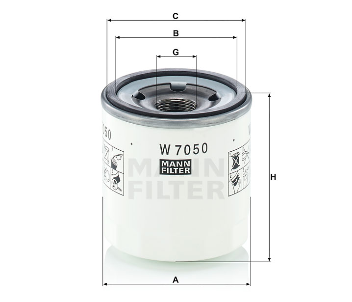 Фильтр масляный Mann-Filter W7050W7050