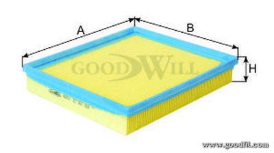 Воздушный фильтр Goodwill AG601AG601Фильтр возд. 601 AG GW DAEWOO Goodwill. AG601