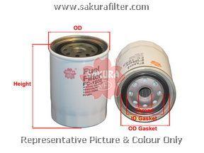 Топливный фильтр Sakura. FC1804FC1804Фильтр топл. Sakura Sakura авто. FC1804