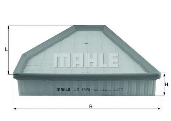 Воздушный фильтр Mahle/Knecht LX1478LX1478Фильтр воздушный BMW: E90 USA BMW, only for USA Mahle/Knecht. LX1478