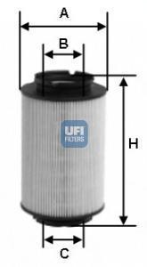 Фильтр топливный дизель UFI 26.014.0026.014.00