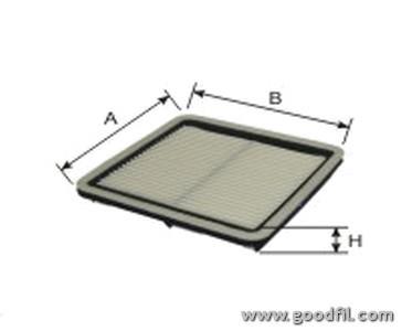 Воздушный фильтр Goodwill AG625AG625Фильтр возд. 625 AG GW SUBARU. LEGACY Goodwill. AG625