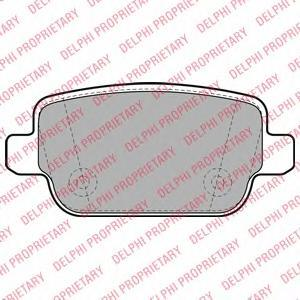 Тормозные колодки дисковыеDELPHI LP1969LP1969Колодки тормозные дисковые DELPHI. LP1969