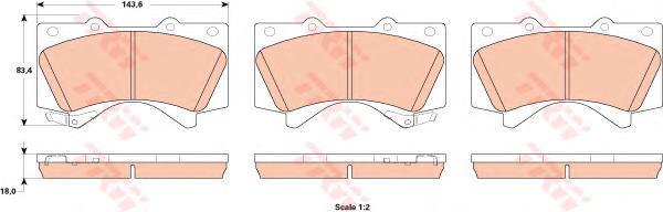 Тормозные колодки дисковые TRW / Lucas GDB3524GDB3524Колодки тормозные дисковые TRW / Lucas. GDB3524