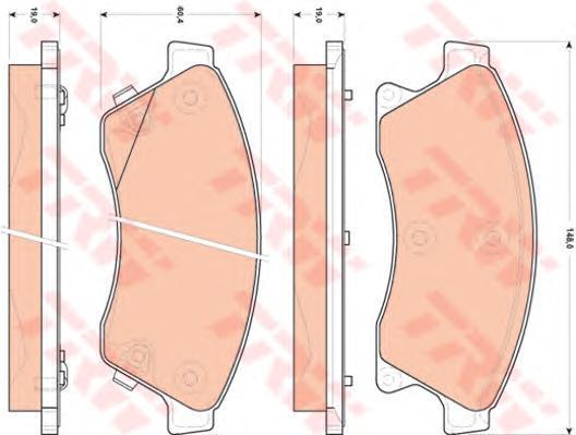 Колодки тормозные дисковые TRW/Lucas GDB1843GDB1843