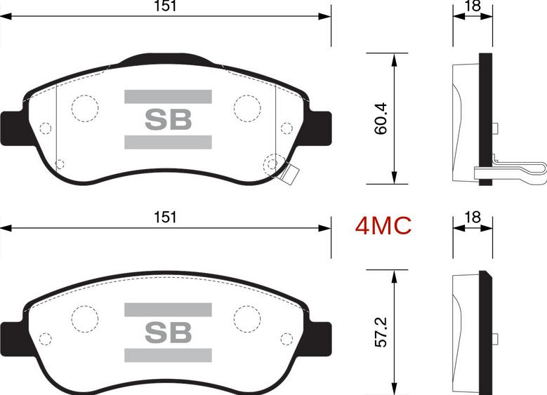 Тормозные колодки дисковые Sangsin SP1567SP1567Колодки тормозные передние HONDA CR-V III 07- Sangsin. SP1567