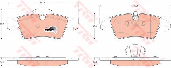 Колодки тормозные дисковые TRW/Lucas GDB1643GDB1643