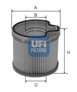 Фильтр топливный дизель UFI 26.691.0026.691.00