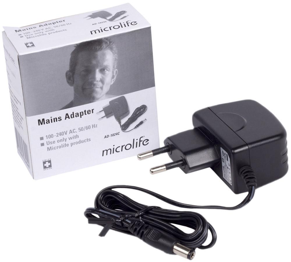 Microlife Сетевой адаптер AD-1024СAD-1024СПодходит для тонометров B.Well и Microlife Технические характеристики 6В, 600 мАДлина шнура 1,7 м