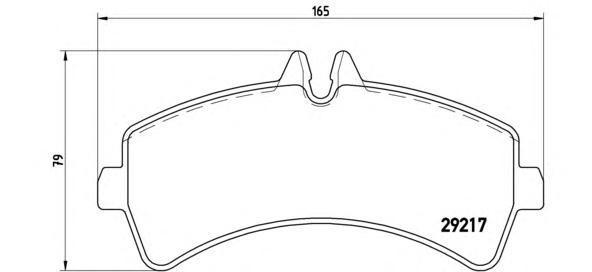 Колодки тормозные дисковые Brembo, задние. P50060P50060