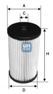 Фильтр топливный дизель UFI 26.007.0026.007.00
