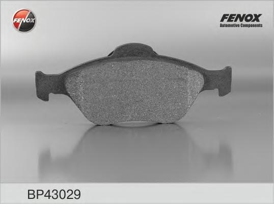 Тормозные колодки дисковые Fenox BP43029BP43029КОЛОДКИ ТОРМОЗНЫЕ ДИСКОВЫЕ 150,2*61,1/151,5*58,3*18,6 Передние Ford Fusion, Fiesta IV 95-02, Fiesta Fenox. BP43029