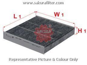 Салонный фильтр Sakura CAC1606CAC1606Фильтр салон. Sakura Sakura авто. CAC1606