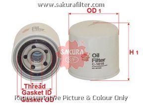 Масляный фильтр Sakura C1016C1016Фильтр масл. Sakura Sakura авто. C1016