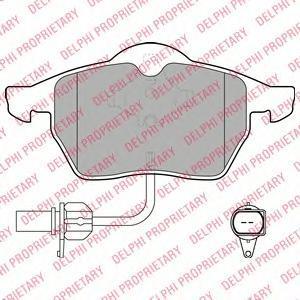 Тормозные колодки дисковыеDELPHI LP1672LP1672Колодки тормозные передние DELPHI Audi A4 95-/A6 97-/Passat 97-. LP1672