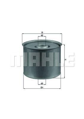 Топливный фильтр Mahle/Knecht. KX23DKX23D[KX23D] Knecht (Mahle Filter)Фильтр топливный Mahle/Knecht. KX23D