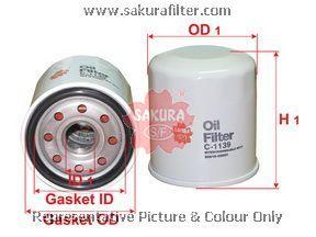 Масляный фильтр Sakura C1139C1139Фильтр масл. Sakura Sakura авто. C1139