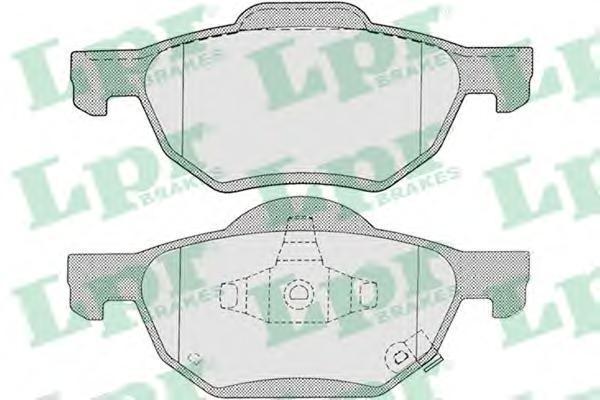 Колодки тормозные передние дисковые LPR / AP 05P121105P1211