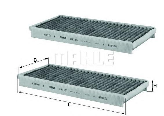 Салонный фильтр Mahle/Knecht LAK235SLAK235SФильтр салонный MAZDA MPV/RX8 угольный Mahle/Knecht. LAK235S