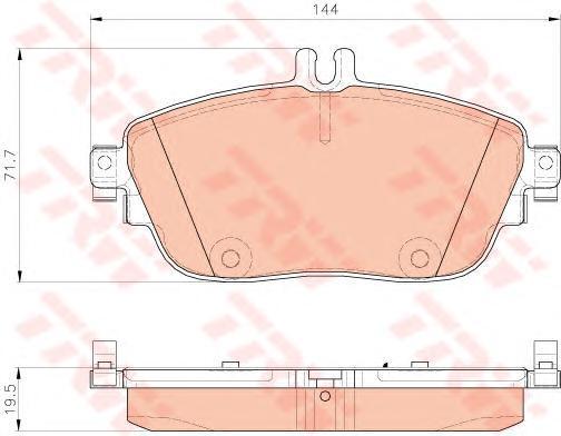 Колодки дисковые передние TRW/Lucas GDB1932GDB1932