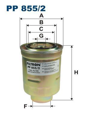 цена на Фильтр топливный Filtron PP855/2