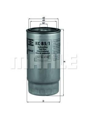 Топливный фильтр Mahle/Knecht KC851KC851Фильтр топливный MG: MG ZT 02-, MG ZT- T 02-, ROVER: 75 99-, 75 Tourer 01- Mahle/Knecht. KC851