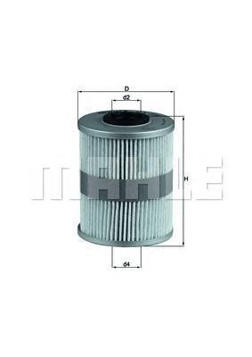 Фильтр топливный Mahle KX206DKX206D
