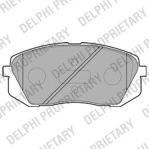Тормозные колодки дисковыеDELPHI LP2050LP2050Колодки тормозные дисковые DELPHI. LP2050