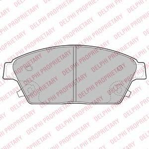 Тормозные колодки дисковыеDELPHI LP2170LP2170Колодки тормозные дисковые DELPHI. LP2170