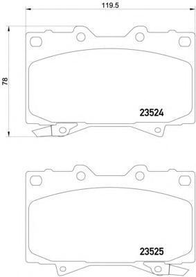Колодки дисковые Textar23524022352402
